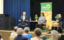 Der Auftakt: Jürgen Trittin im Gespräch mit Sülmez Dogan in Gröpelingen