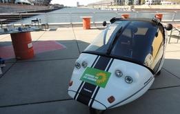 Okomobil am Europahafen - Wenn das mal nicht innovativ ist!