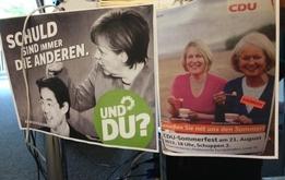 Und was macht die CDU am Schreibtisch der Grünen Geschäftstelle?