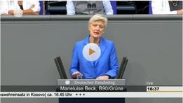 Plenarrede zum Kosovo-Einsatz der Bundeswehr