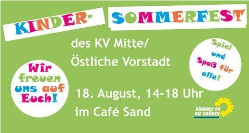 Grünes Sommerfest am Café Sand