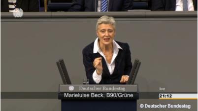 Marieluise Beck Plenardebatte Sanktionen gegen Russland