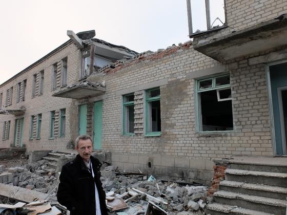 Zerstörte Klinik Switlodarsk