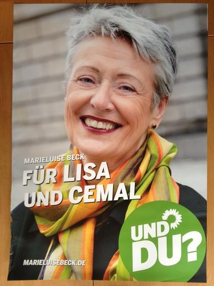 Kopfplakat Marieluise Beck Wahlkampf 2013