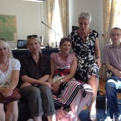 Mit Angehörigen politischer Gefangener