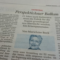 Frankfurter Rundschau Perspektivloser Balkan