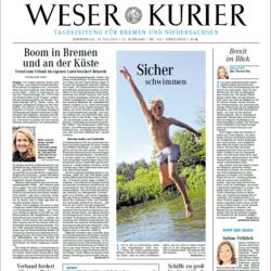 Weser Kurier Titelseite Ausschnitt 14. Juli 2016