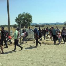 Flüchtlinge in Gevgelija